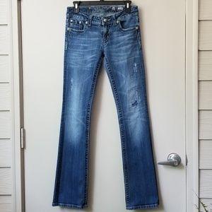 Miss Me Low Rise Medium Wash Boot Cut Jeans